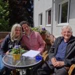 Jim Humble (MMS), Carolina Lloyd und Dr. Hartmut Fischer (DMSO) und Ali Erhan (MMS-Seminar.com) nach dem Spirit of Health 2014 Kongress in Hannover