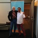Jim Humble (MMS) und Ali Erhan (MMS-Seminar.com) auf dem Spirit of Health 2014 Kongress in Hannover