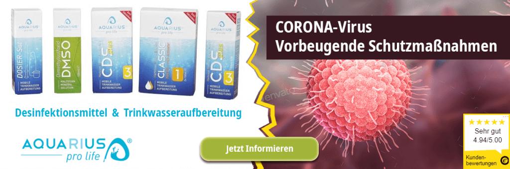 CORONA-Virus: Vorbeugende Schutzmaßnahmen