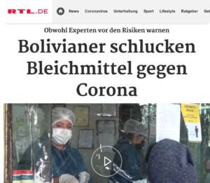 Bolivians swallow chlorine dioxide against Corona